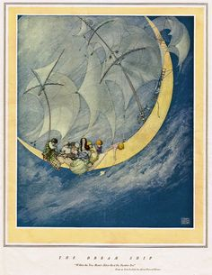 Within the New Moon's Silver Boat on Slumber Sea, Robert Lawson, 1921