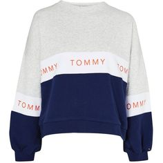 Colourblock Sweatshirt by Tommy Jeans (10685 RSD) ❤ liked on Polyvore featuring tops, hoodies, sweatshirts, sweaters, grey, block top, grey top, color blocked sweatshirt, topshop sweatshirt and sport sweatshirts