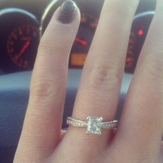 My gorgeous engagement ring! #engaged #ring #love