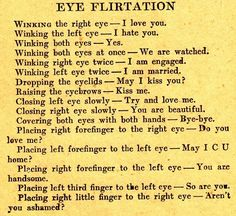 eye flirtation..good to know