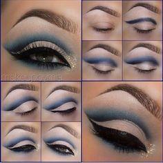 Cut crease natural look Eye Makeup Pictures, Eye Makeup Tips, Makeup Goals, Makeup Trends, Makeup Eyeshadow, Makeup Pics, Makeup Ideas, Makeup Products, Blue Makeup