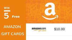 Win Free Amazon Gift cards Giveaway - 5 winners