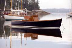 beautiful classic wooden boat.