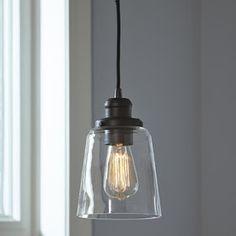 Single Bell Pendant Found it at Wayfair - Phillips Mini Pendant Farmhouse Pendant Lighting, Kitchen Pendant Lighting, Kitchen Pendants, Hallway Pendant Light, Industrial Pendant Lights, Rustic Chandelier, Light Pendant, Chandeliers, Kitchen Lighting Over Table