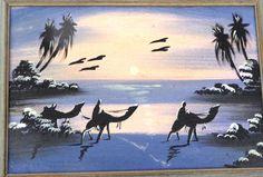 Painting of Camels in the Desert Oil on Canvas Vintage Art OOAK Painting… Vintage Home Decor, Vintage Art, Vintage Landscape, 5 Image, Camels, Vertigo, Landscape Paintings, Oil On Canvas, 1970s