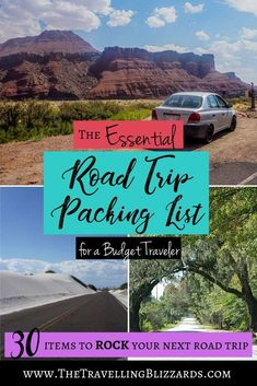 A Road Trip Checklist: The Essential Road Trip Packing List for a Budget Traveler - Use this checklist to plan your best roadtrip! It includes my top tips for a great roadtrip and wha - Road Trip On A Budget, Road Trip Checklist, Road Trip Packing List, Road Trip Essentials, Road Trip With Kids, Road Trip Hacks, Travel Checklist, Road Trip Usa, Travel Packing