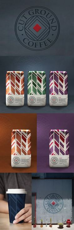 #Coffee #branding & #packaging design by design studio, Our Revolution: