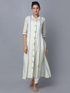 Multicolor Striped Cotton Shirt Dress is part of Cotton shirt dress - Simple Kurti Designs, Salwar Designs, Kurta Designs Women, Kurti Designs Party Wear, Dress Neck Designs, Blouse Designs, Kurta Patterns, Cotton Shirt Dress, Striped Shirt Dress