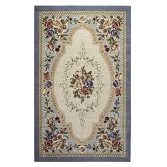 Estate Rose Washable Rectangular Rug Found At Jcpenney