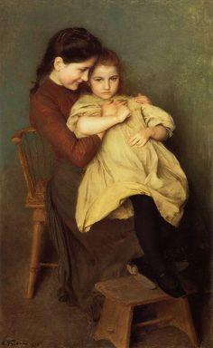 Chagrin d'enfant - Emile Friant