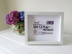 Personalized Engagement Gift Framed Print by NJRDesigns on Etsy £20