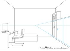 One point perspective drawing cupboard sliding doors One Point Perspective Room, Perspective Drawing, Beauty Art, Line Drawing, Sliding Doors, Inktober, Cupboard, Art Drawings, Interior Design