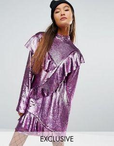 Mad But Magic – Paillettenkleid mit Rüschen
