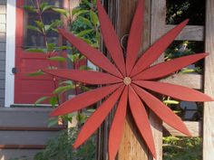 Red Wood Wreath for Holidays Outdoor & Indoor by laughingcreekprod, $59.00