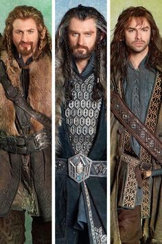 Thorin Oakenshield with Fili and Kili. Never thought I would have a crush on a dwarf-but I could bring Kili home