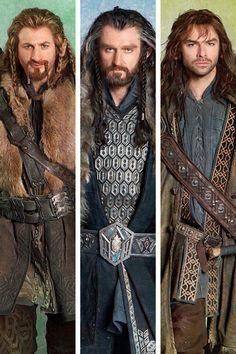 Kili, Thorin & Fili - hottest dwarf family to ever live
