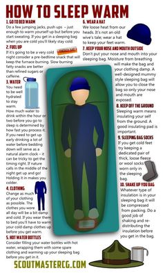 Tips on sleeping warm