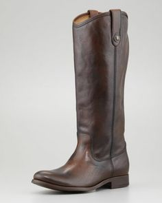 Melissa Button-Pull Boot, Dark Brown  by Frye at Neiman Marcus.
