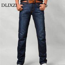 Marcas dos homens magros das calças de Brim de alta qualidade macacão jeans reta calças masculinas de moda clássico plus size 6xl calças boyfriend casual alishoppbrasil