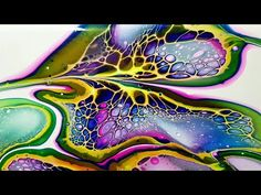 Stretching Blooms with a Zigzag and Swirl - Sheleeart Technique - Acrylic Pouring Acrylic Pouring Techniques, Acrylic Pouring Art, Acrylic Art, Acrylic Paintings, Flow Painting, Pour Painting, Abstract Images, Abstract Portrait, Portrait Paintings
