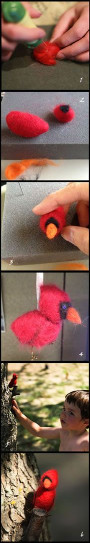 Birds of a felt how-to instructions (Photo by NCC)