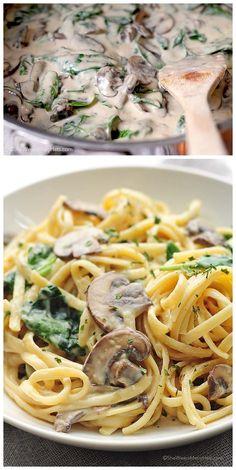 Mushroom Florentine Pasta