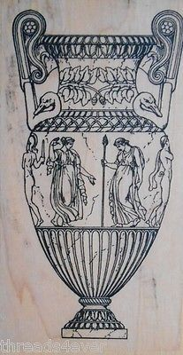 Greek Roman Urn Vase Mounted Rubber Stamp New by Paper Inspirations 1999 | eBay