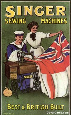 A collection of old ads - inc. Singer Sewing Machines