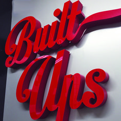 Red acrylic built up letters