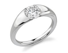 I have not seen an inset diamond ring before. Impressive