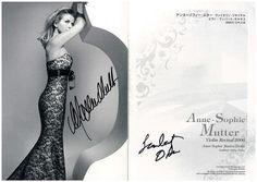 アンネ=ゾフィー・ムター ヴァイオリン・リサイタル カタログに  2006.6.17  モーツァルト生誕250年記念コンサート鑑賞記録