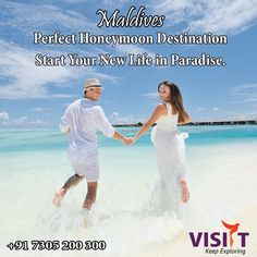 The Perfect Honeymoon Destination,Start Your New Life In Paradise.Package Starts From Price. Honeymoon Packages, Honeymoon Destinations, Honeymoon Ideas, Life In Paradise, Bridezilla, Travel Deals, New Life, Maldives, Wedding Planning