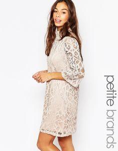 Shop Vero Moda Petite Half Sleeve All Over Lace Dress at ASOS. ce495e11df3