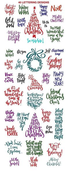 Christmas Quotes : Christmas Lettering Quotes & Clipart by PicByKate on Creative Market - Quotes Boxes Christmas Signs, Christmas Projects, All Things Christmas, Holiday Crafts, Christmas Holidays, Christmas Decorations, Christmas Letters, Christmas Fonts, Christmas Quotes And Sayings