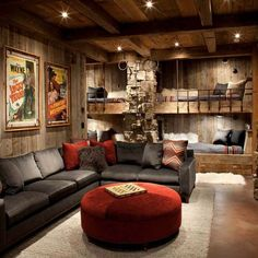 Ultimate Comfort Man Cave Shed It doesn't matter what sport you prefer, when you sit down to watch the big game, you want to do it in style. If you're thinking of building your own man cave, here are 15 awesome ideas for inspiration. Man Cave Shed, Man Cave Home Bar, Man Cave Room, Man Cave Living Room, Attic Man Cave, Man Cave Pub, Man Cave Bathroom, Man Cave Wall Decor, Man Cave Basement