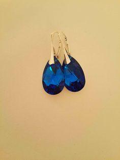 Sterling silver earrings with swarovski.