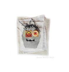 Fabric Brooch Zombie