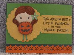 I just listed Best Little Pumpkin In The Whole Patch A2 greeting card **YOU CHOOSE THE COLOR** stamped spooky embossed kids on The CraftStar @TheCraftStar #uniquegifts