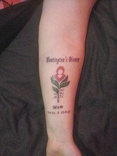 Huntington's Disease Awareness: My hd tattoo Hd Tattoos, Tattoo Quotes, Huntington Disease, The Cure, Pray, Google, Armadillo, Inspiration Tattoos, Quote Tattoos
