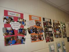 Classroom timeline. I LOVE THIS. Fun idea to put up class pictures and favorite things from the year! SO GREAT!