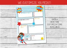 Superhero Birthday Time Capsule Printable, 1st Birthday Time Capsule | by Pretty Printables Ink on Etsy. Our girl superhero birthday capsule is the perfect way to capture memories for your child! Age, name and questions can be customized. #birthdaytimecapsule #birthdayideas #girlbirthdayideas #superherobirthday #girlfirstbirthday #firstbirthdayparty #birthdaymemories Girl First Birthday, First Birthday Parties, First Birthdays, Kids Birthday Party Invitations, Birthday Party Themes, Baby Memories, Party Activities, Digital Invitations, Time Capsule