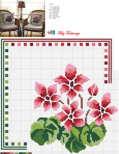 Designed and stitched by Filiz Türkocağı. Cross Stitch Pillow, Cross Stitch Cards, Cross Stitch Borders, Cross Stitch Flowers, Cross Stitch Designs, Cross Stitching, Cross Stitch Embroidery, Cross Stitch Geometric, Crochet Cross