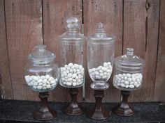 Spray paint candle sticks and add to Jars to give more dimension to the Candy Bar.
