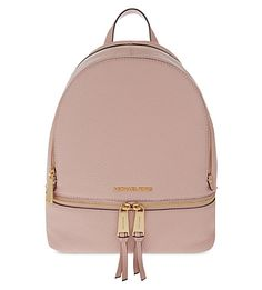 MICHAEL MICHAEL KORS Rhea Small Leather Backpack. #michaelmichaelkors #bags #leather #backpacks #