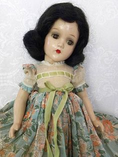 "Beautiful Madame Alexander 14"" Scarlett O' Hara Composition Doll circa 1937"