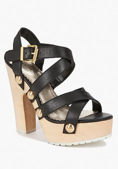 bebe Thailia Lug Wood Sandal, I've got shoes just like this! Except mine are from target