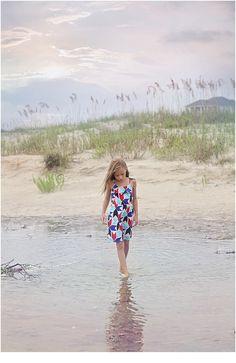 beach photographer at Oak Island Beach, NC reflection images beautiful beach sessions