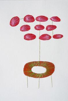 "Untitled from ""Natural"" (2014) by Dutch fiber artist Ingrid van den Brand. via the artist's site"