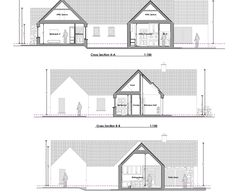 New Detached Bungalow and Detached Domestic Garage in Co. Old School House, Bungalow, Homeschool, Old Things, Garage, Floor Plans, How To Plan, Drive Way, Bungalows