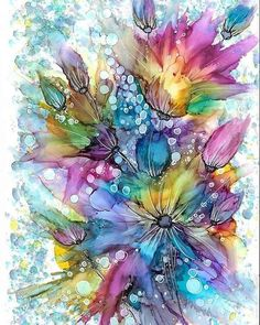 ArtBack Full Drill Square Watercolor Flowers Diamond Painting Abstract – Taylor Made Events For You Alcohol Ink Crafts, Alcohol Ink Painting, Alcohol Ink Art, Watercolor And Ink, Watercolor Flowers, Posca Art, Abstract Pictures, Resin Art, Creative Art